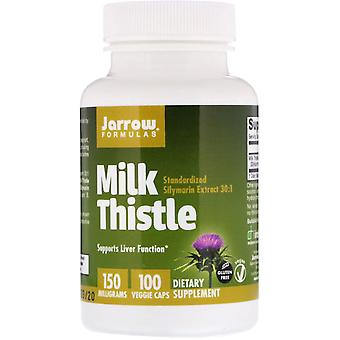 Fórmulas De Jarrow, Cardo de Leche, 150 mg, 100 Tapas Vegetales