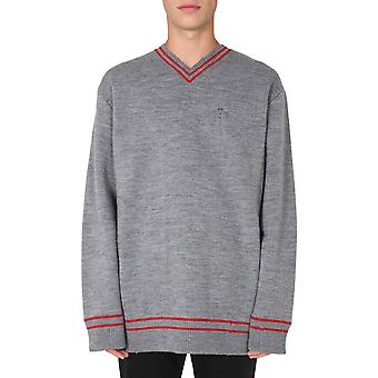 Maison Margiela S30hb0238s17446854m Men's Grey Acryl Sweater