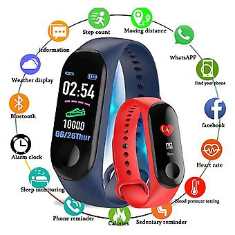 M3 Fitness Bracelet Waterproof Smart Watch Band Tracker Sport Pedometer Heart Rate Blood Pressure Bluetooth Health Wristband