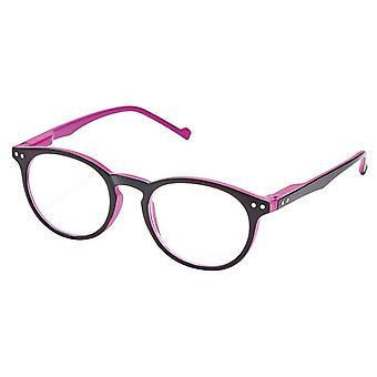 Reading glasses Unisex Libri_x two-tone thickness +3.0 black/purple