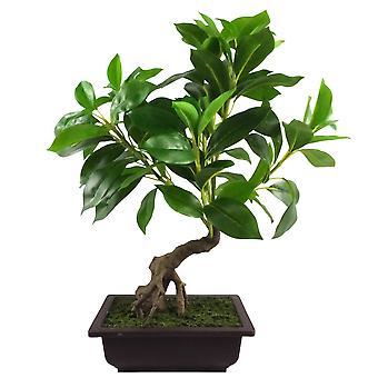 50cm Ficus artificial gran hoja bonsái árbol