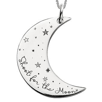 Joshua James Silver Shoot For The Moon Pendant