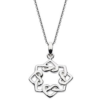 Heritage Sterling Argent Oriana Heart Knot Pendentif 9322HP024