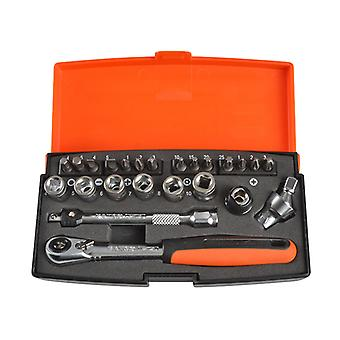 Bahco SL24 Socket Set di 24 Metrica 1/4in Di unità BAHSL24