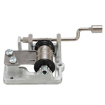 Mini Music Diy Mechanical Hand Crank Craft Music Movement Decor