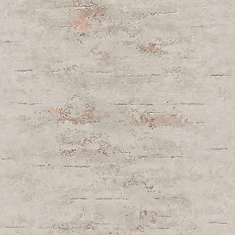 Orion Rocca Industrial Texture Wallpaper Grey / Rose Gold GranDeco ON4202