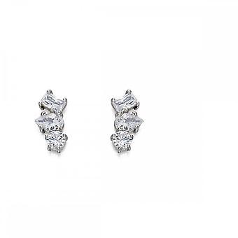 Fiorelli Silver Assorted Stone Crawlers Earrings E5548C