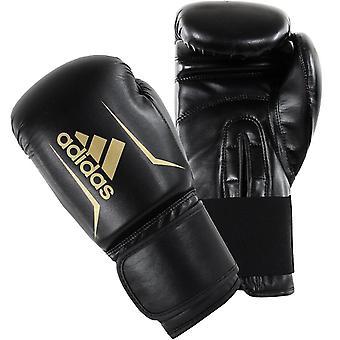 adidas Speed 50 Boxning MMA Utbildning Sparring Handskar Svart / Guld