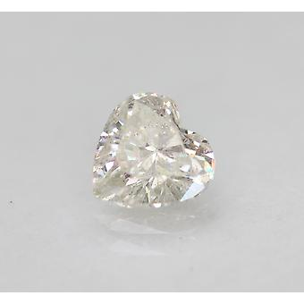 Zertifiziert 0.72 Carat E Color VS2 Heart Enhanced Natural Loose Diamond 5.85x5.82m