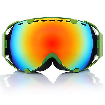 Outdoor Motorcycle Ski Goggles Spherical Dual Lens Snowboard Polarized Glasses