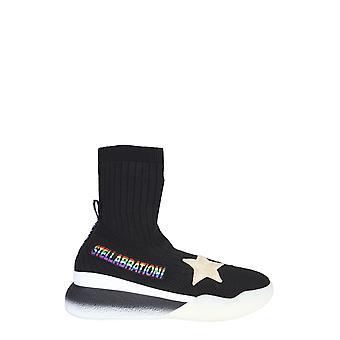 Stella Mccartney 558863w1nf51006 Women's Black Elastane Hi Top Sneakers