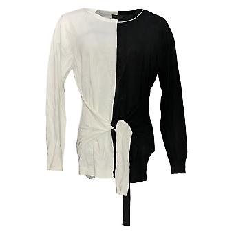 Vince Camuto Women's Sweater Long-Sleeve W/ Tie-Front Detail Zwart A352441
