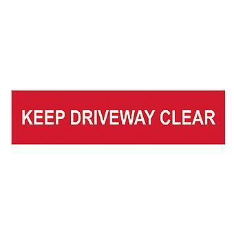Scan Keep Driveway Clear - PVC 200 x 50mm SCA5252