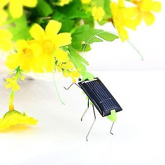 Mini újdonság Kid Napenergia Powered Spider csótány Robot Bug Szöcske
