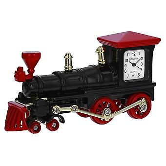 The Olivia Collection Miniature Red Steam Locomotion\Train Novelty Desktop Collectors Clock TM35