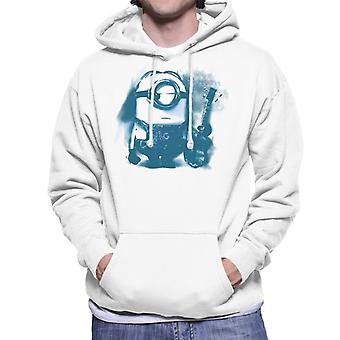 Despicable Me Stuart The Minion Guitar Art Men's Hooded Sweatshirt