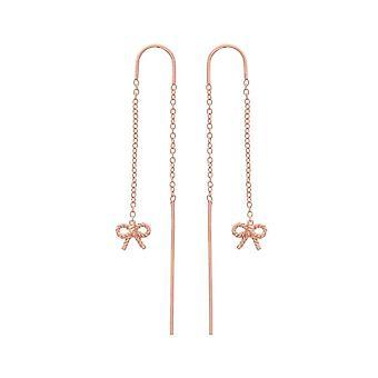 Olivia Burton Obj16vbe13 Vintage Bow Chain Drop Earrings Rose Gold