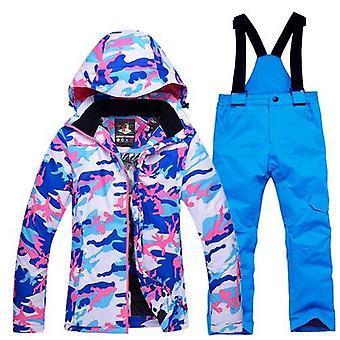 Lapset Talvi, Vedenpitävä hiihtopuku, takki ja housut hihnalla