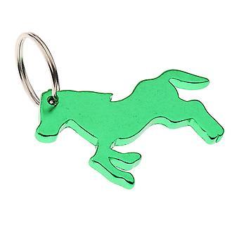 Horse Pattern Bottle Opener Key Ring