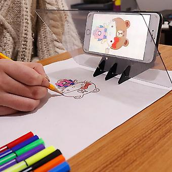 Imaging Drawing Board Sketch Reflection Dimming Bracket Painting Mirror Plate