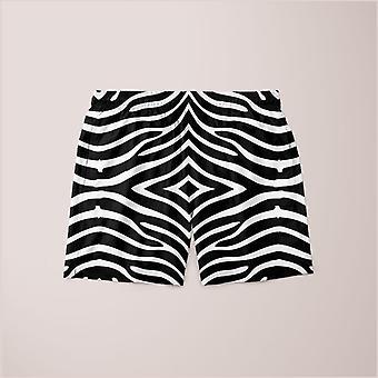 Zebra mønster shorts