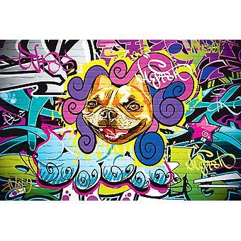 Tapete Wandbild Grunge Hip Hop Graffiti