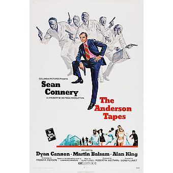 أندرسون الأشرطة شون كونري عام 1971 فيلم ملصق ماستيربرينت