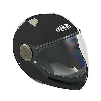 GSB G-246 Modular Flip Up Motorcycle Helmet BlackIntegrated Sun Visor