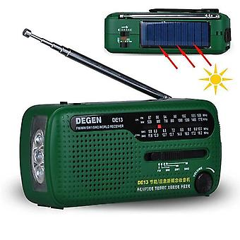 De13 Fm Am Sw Krank Dynamo Solar Power Emergency Radio Global Receiver