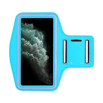 Stuff Certified® Waterproof Case for iPhone XS Max - Sport Pouch Pouch Cover Case Armband Jogging Running Hard Light Blue