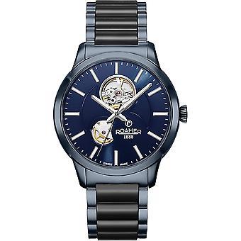 Roamer 672661 40 45 60 C-Line Automatic Blue Dial Wristwatch