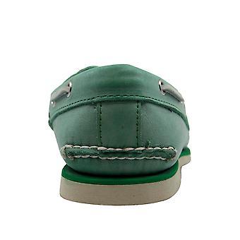 تيمبرلاند كلاسيك 2 العين قارب أخضر الجلود الدانتيل حتى الرجال أحذية قارب A13NZ