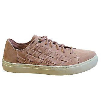 Toms Lenox Bloom Suede Basketweave Leather Lace Up Womens Trainers 10011818