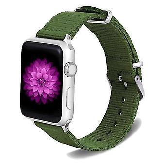 Nailonkankaan kellopanta apple iwatch -sarjalle 5, 4, 3, 2,1 38mm, 40mm, 42mm, 44mm