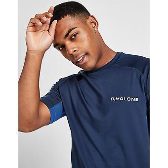 New B Malone Men's Tech Short Sleeve T-Shirt Navy