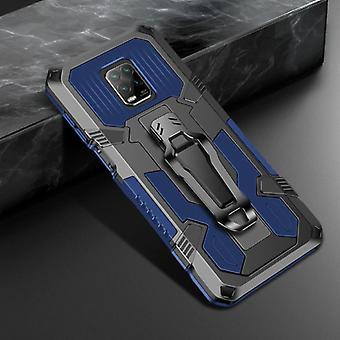 Funda Xiaomi Redmi Note 9 Case - Magnetic Shockproof Case Cover Cas TPU Blue + Kickstand