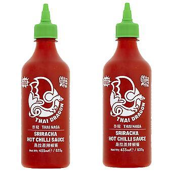 2 x 455ml Thai Dragon Sriracha Hot chili Sauce Spicy Dip Kød Krydderier Marinade