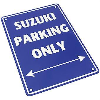 Panneau de stationnement en aluminium Bike It - Suzuki Parking Only