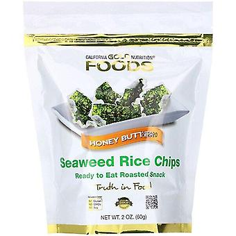 California Gold Nutrition, Seaweed Rice Chips, Honey Butter, 2 oz (60 g)