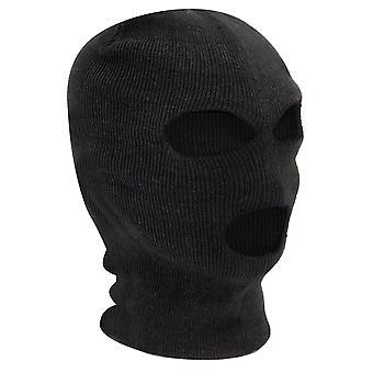 TRIXES 黒の目出し帽 SAS スタイル 3 穴マスクの首の暖かいペイント ボール釣り