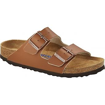 Birkenstock Arizona Sfb 1019067 (reg) Mens Birko-flor Two Strap Sandals Ginger Brown