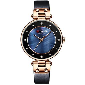 CURREN 9056 Fashion Crystal Case Casual Dial Women Quartz Watch