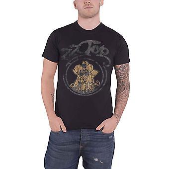 ZZ Top camiseta clássico Outlaw Village Band logo design oficial Mens novo preto