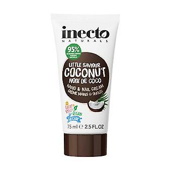 Moisturizing Coconut Hand Cream with Pure Organic Coconut Oil 75 ml of cream