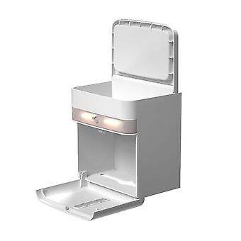 Toilet Paper Roll Holder with Automatic Sensor LED Lighting and Smartphone Holder Shelf