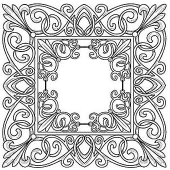 Creative Expressions Baroque Frame Pre Cut Stamp