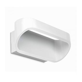 Óvalo, Aluminio Blanco Mate, 18 cm.