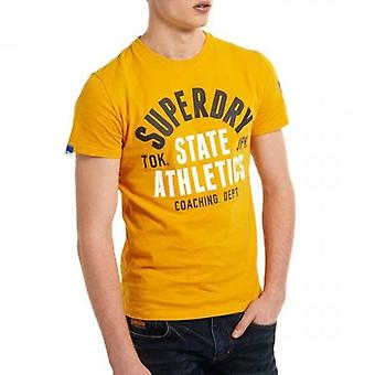 Superdry Track & Field Grafisch T-Shirt Utah Gold RUA