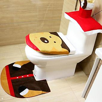 Christmas Bath Mat Wc Toilet Seat Cover Toilet Tapa Decoration Commode Bowls