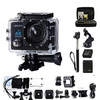 Action Camera, Wifi Hd 1080p 30fps Video Go Bike Cams Pro Fotocamera impermeabile